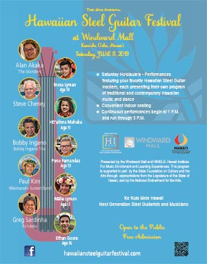 2019 Hawaiian Steel Guitar Festival at Windward Mall Poster